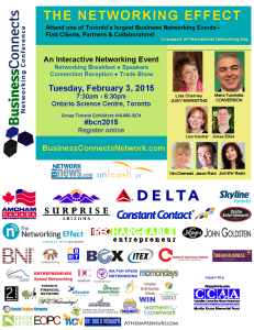 BUSINESS CONNECTS NETWORKING CONFERENCE TUES FEB 3 ONTARIO SCIENCE CENTRE
