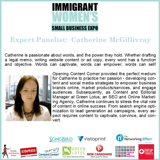 Panelist Catherine